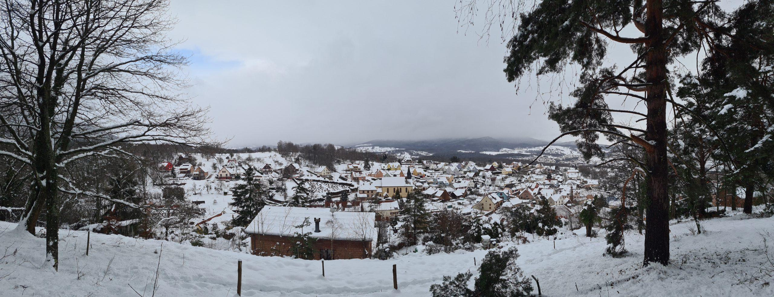 La commune de Neubois sous la neige
